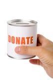 пожертвование коробки стоковые изображения