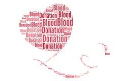 Пожертвование крови в коллаже слова Стоковые Изображения