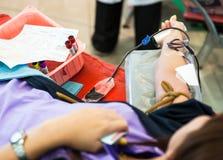 пожертвование крови предпосылки медицинское Стоковое Фото