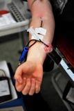 пожертвование крови предпосылки медицинское Стоковые Фото
