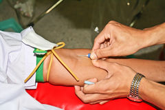 пожертвование крови Стоковое фото RF