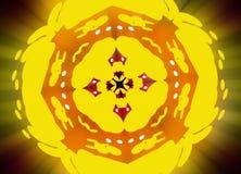 Пожелтейте конспект цветка Стоковые Изображения RF
