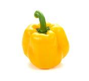 Пожелтейте перец над белой предпосылкой сладостный желтый изолят перца Стоковое Изображение RF