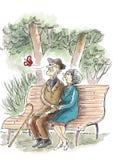 Пожилая влюбленность бесплатная иллюстрация