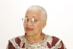Пожилая женщина афроамериканца Стоковая Фотография