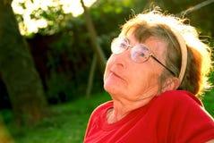 пожилая женщина Стоковое Изображение