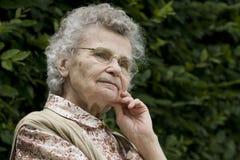 пожилая женщина Стоковое Изображение RF