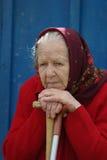 пожилая женщина Стоковая Фотография