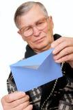 пожилое отверстие человека письма габарита Стоковые Фотографии RF