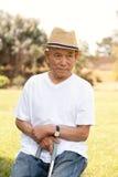 Пожилой азиатский человек Стоковая Фотография