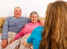 Пожилой домашний уход Стоковое Изображение RF