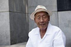 Пожилой корейский человек. Стоковое Фото