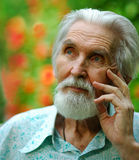 пожилой портрет человека Стоковая Фотография RF