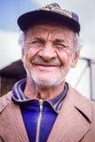 Пожилой русский усмехаться человека Стоковые Фото