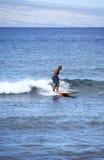 пожилой серфер Стоковое Изображение RF