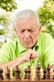 пожилой думать человека Стоковое Изображение RF