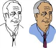 пожилые люди бизнесмена Стоковые Изображения