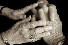 пожилые люди внимательности Стоковое Изображение