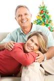 пожилые люди пар рождества Стоковое Изображение