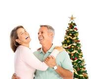 пожилые люди пар рождества Стоковая Фотография