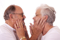 пожилые люди пар Стоковые Фото