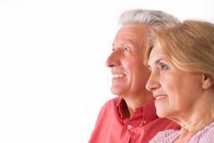 пожилые люди пар милые Стоковое Фото