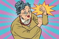 Пожилая женщина бабушки мы можем сделать ее иллюстрация штока