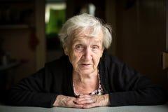пожилая женщина портрета возмужало стоковая фотография rf