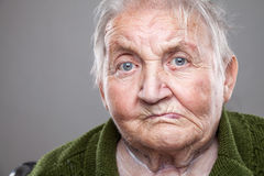 пожилая женщина портрета Стоковое Изображение RF