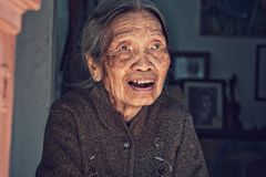 Пожилая женщина Ханоя Стоковая Фотография