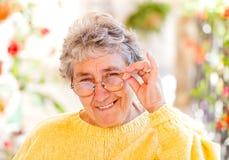 Пожилая женщина Стоковые Изображения