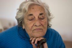 Пожилая женщина стоковые фото