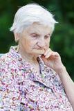 Пожилая забота Стоковая Фотография