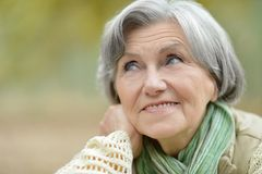 пожилая счастливая женщина стоковые изображения