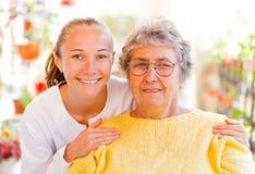 Пожилой домашний уход Стоковые Изображения