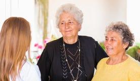 Пожилой домашний уход Стоковое фото RF