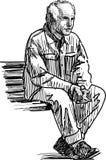 пожилой отдыхать человека Стоковое фото RF