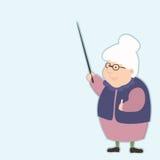 Пожилой учитель с указателем дает совет о жизни Стоковое фото RF