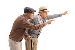 2 пожилых люд споря с кто-то Стоковая Фотография RF