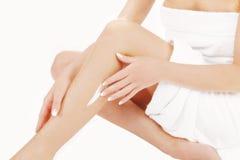 Позаботиться о красивая и здоровая кожа Стоковое фото RF