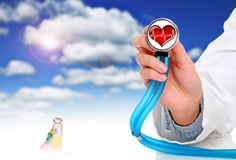 позаботьте здоровье принципиальной схемы Стоковое фото RF