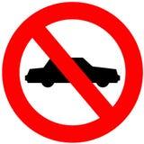 позволенное нет автомобилей Стоковое фото RF