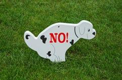 позволенные собаки нет Стоковое Фото