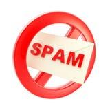позволенный запрещенный не спам знака Стоковое Изображение RF