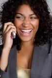 позвоните по телефону женщине стоковые фотографии rf
