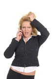 позвоните по телефону женщине Стоковое Фото