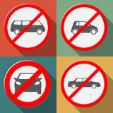 позволенное нет автомобилей Стоковые Изображения