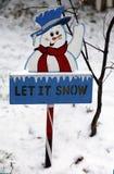 Позволенный ему идти снег знак Стоковое Изображение RF