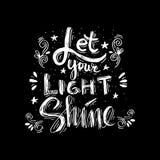 Позвольте вашему светлому блеску Стоковая Фотография