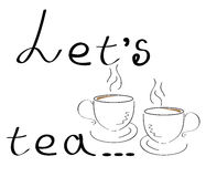 Позвольте кофейной чашке чая ` s винтажной стилизованной в векторе иллюстрация вектора